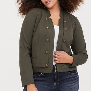Torrid military jacket new size 2